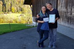 16 - Danksagung und Übergabe Urkunde an Bänklisponsoren